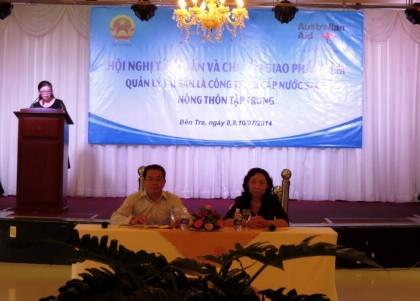Bộ Tài chính tổ chức Hội nghị tập huấn và chuyển giao Phần mềm Quản lý tài sản là công trình cấp nước sạch nông thôn tập trung