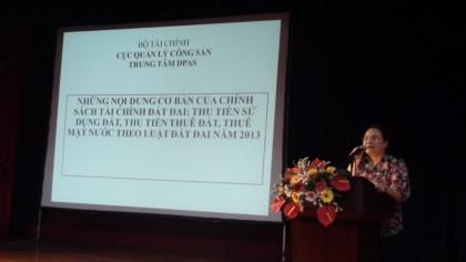 """Khai mạc Lớp tập huấn """"Những quy định mới trong chính sách thu tiền sử dụng đất, thu tiền thuê đất, thuê mặt nước"""" tại Thành phố Hà Nội"""