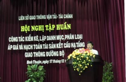 Tỉnh Bình Thuận tổ chức Hội nghị tập huấn chính sách quản lý tài sản kết cấu hạ tầng giao thông đường bộ