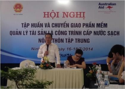 Bộ Tài chính tổ chức Hội nghị tập huấn và chuyển giao Phần mềm Quản lý tài sản là công trình cấp nước sạch nông thôn tập trung tại tỉnh Ninh Bình